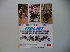 advertising Pubblicità 1979 MOTO ITALJET M 5 C/JC 5 C/KS 50/ PR 50