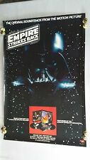 "Original STAR WARS "" The Empire Strikes Back"" Soundtrack PROMOTIONAL POSTER 1980"