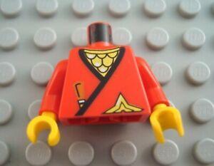 LEGO Red Castle Ninja Minifigure Torso Body Part