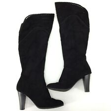 Impo Olson Over The Knee Fashion Boots Women's Size 9 Black Die Cut Top