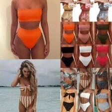 Women Bandage Bandeau High Waisted Bikini Set Bottoms Swimsuit Swimwear Holiday