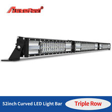 52 INCH 1250W CURVED/FOLDED LED LIGHT BAR TRI-ROW DRIVING OFF-ROAD COMBO DRL FOG