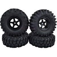 105mm Tyres RC 1:10 Off-Road Car Beach Rock Crawler Tires 9mm Offset Wheels Rims