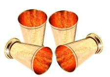 Hammered Copper Mint Julep Cup Hammered Copper Moscow Mule Julep Cup Set of 4
