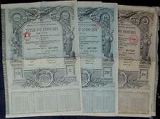 Roumania 3 x 4 1/2% oro bonds 500 - 2500 lei AUR = 99 ₤, 1929 uncan. + CEDOLE