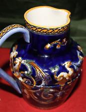 GIEN, Petit pot à lait modèle bleu renaissance (H: 12 cm)