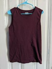 Athleta Sleeveless Top Size Large in Maroon Wine Nicely Textured Great Condition