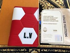 Genuine Louis Vuitton FIFA 2018 World Cup Pocket Organizer RED Brand NEW RARE