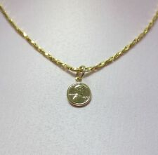 18 INCH 14KT GOLD EP 2mm SPARKLING TWISTED COBRA COMFORT CHAIN w/ MINI PENNY