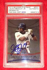 Jackie Bradley Jr Boston Red Sox Signed Autograph 2010 Bowman RC PSA/DNA Slabbed