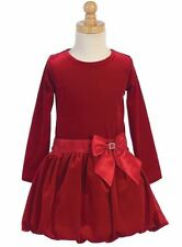 New Girls Red Velvet Dress Size 6 Wedding Holidays Christmas Party Graduation