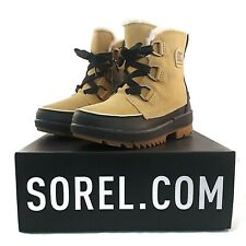 Sorel Suede Leather Boot Women Tivoli IV Curry Tan Waterproof Insulated Fleece