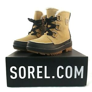 Sorel Suede Leather Boot Women Tivoli IV Curry Tan Waterproof Insulated Fleece