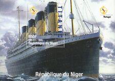 RMS TITANIC WHITE STAR LINE OCEAN DISASTER NIGER 1998 MNH STAMP SHEETLET