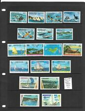 Grenada 1973-77 Water Sports 3 sets mint