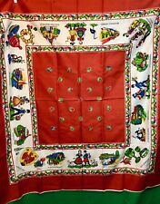 Vintage Tablecloth Austria Hungary Gypsy Locations Collectable