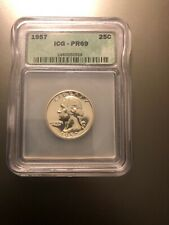1957 25C Washington Quarter PF-69 ICG Almost Cameo