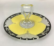 "Westmoreland Jonquil Handled Luncheon Tray Center Handle Server Glass 10.5"" Deco"