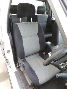 NISSAN NAVARA FRONT SEAT D22, RH FRONT, CLOTH, BLACK & LIGHT GREY, 04/97-08/