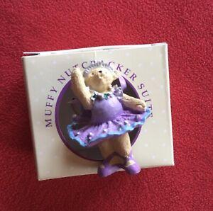 Nutcracker BALLERINA Muffy VanderBear ORNAMENT Retired Christmas Collectible