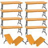 Set of 10 Brown Breakable Tables for WWE Wrestling Action Figures