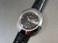 Swiss Made Day & Date Automatic Lord Elgin Cushion Watch: Premium Vintage 1960s