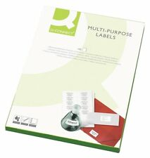 Q connect Multi-purpose Label 38.1x63.5mm 65 Per A4 Sheet - White (Pack of 100)