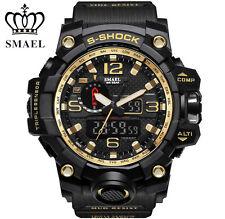 SMAEL Digital LED Electronic Wristwatch Men's Watch Dual Quartz Military GM [US]