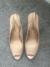 Ladies Nude Sling Back Heels Size 7