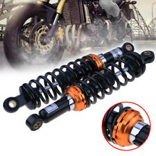 "2Pcs 12.5"" 320mm Motorcycle Rear Shock Absorbers Suspension Universal Orange UK"