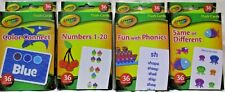 Lot of 4 Crayola 36 Flash Cards Numbers Colors Phonics Same or Different New