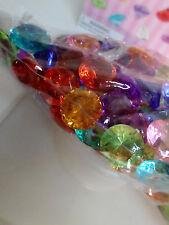 """50 Pcs MULTI COLORED Diamond Table Scatter Confetti Decor Wedding Crystals 3/4"""""""