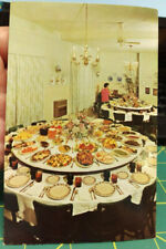 Vintage Mendenhall Hotel Postcard UNUSED Home of the Revolving Tables - Dexter
