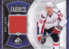 Mike Green 2009-10 SP Game Used Authentic FABRICS #AFGR