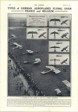 1914 Gathering Of Aeroplanes German Aerodrome Flying Over Belgium