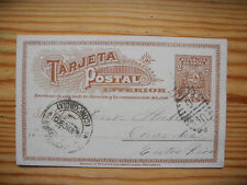 Uruguay 1900 PS Stationery Card to Concordia/Entre Rios (Argentina)