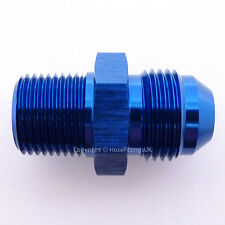 AN -8 AN8 JIC Flare to 1/2 NPT STRAIGHT MALE Fuel Oil Hose Fitting Adapter