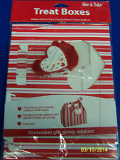 Valentine's Day Stripes Hearts Holiday Party Favor Toy Cookie Gift Treat Boxes