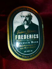 Vintage FREDERICS PREMIUM CASK PUMP CLIP SIGN Beer Pub Ale Bitter Advertising