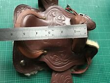 TINY MINIATURE WESTERN SADDLE BROWN DISPLAY SAMPLE NOVELTY 5 inch