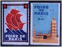 LOT TIMBRE EXPOSITION FOIRE PARIS ART DECO CINDERELLA POSTER STAMP 1930-1950 ?