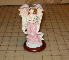 """Heavenly Blossoms Angel Collection 5"""" Figurine with Wooden Stand - September PCH"""