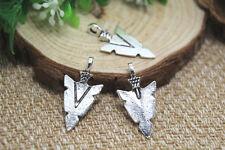 15PCS--Triangle Arrow charms, Antique Tibetan silver Triangle Sword 32x16mm