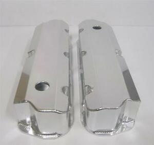 SB Ford FABRICATED Aluminum Tall Valve Covers SBF 289 302 351W 1/4 Billet Rail