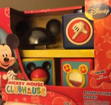 Disneys Mickey Mouse Clubhouse Activity Story Blocks 12 mos.+ New