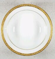 Nikko Gold Filigree Round Vegetable Salad Serving Bowl Very Nice - VTG Rare