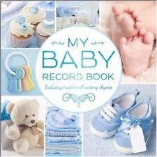 My Baby Record Book Hardcover w Nursery Rhymes Keepsake Shower Gift - BLUE BOYS