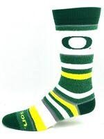 Oregon Ducks For Bare Feet Women's Soft Stripe Crew-Length Socks