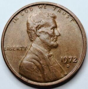 1972 D DDO Lincoln Memorial One Cent USA Copper Penny. Denver Mint  1972-D DDO
