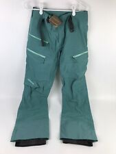 New Patagonia Descensionist Ski/Snowboarding Pants Size S Green/teal $379 MSRP